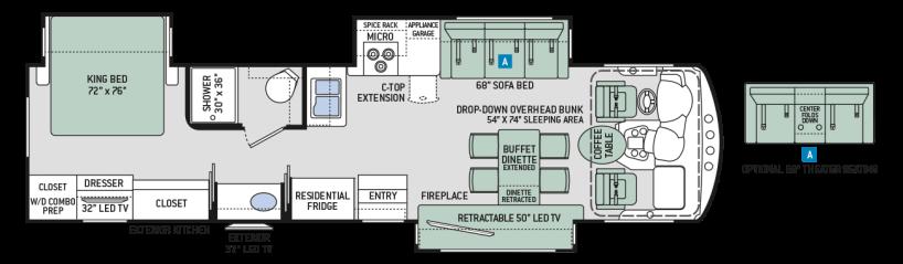 2017-Challenger-36TL-Floor-Plan