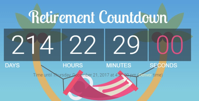 Retirement countdown -32